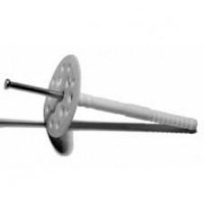 Дюбель для теплоизоляции с металлическим гвоздем 10/120 уп. 100 шт.