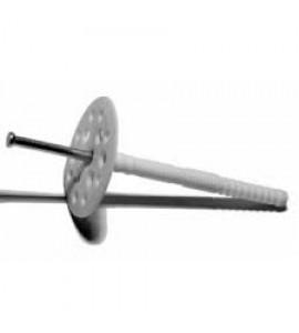 Дюбель для теплоизоляции с металлическим гвоздем 10/90 уп. 100 шт.
