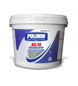 Штукатурка акриловая Polimin Акрил-декор АК-20 короед зерно 2 мм