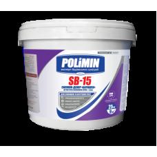 Штукатурка силиконовая Polimin SB-15 Силикон-декор барашек зерно 1,5 мм