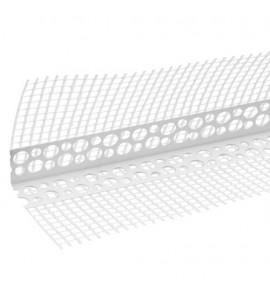 Уголок перфорированный пластиковый с сеткой 3,0 м